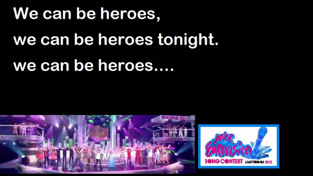 jesc heroes lyrics kidsrights song amsterdam youtube