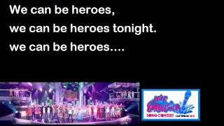 JESC 2012 - We can be heroes (Lyrics) Kidsrights Song - Amsterdam 2012