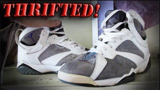 trip to the thrift 64 jordan 7 s af1 olympics jeters and hurraches huge sneaker haul