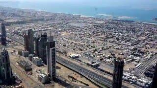 A view from Burj Khalifa, Dubai