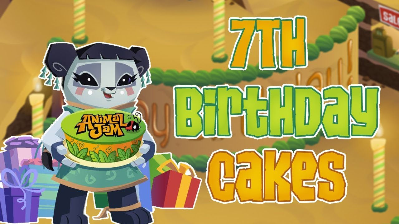 Animal Jam 7th Birthday Cake Shops