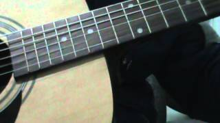 Distance solo guitar (guitar Epiphone DR-100NA)