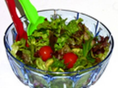 How To Make Green Garden Salad Recipe - Great Barbecue Side - YouTube