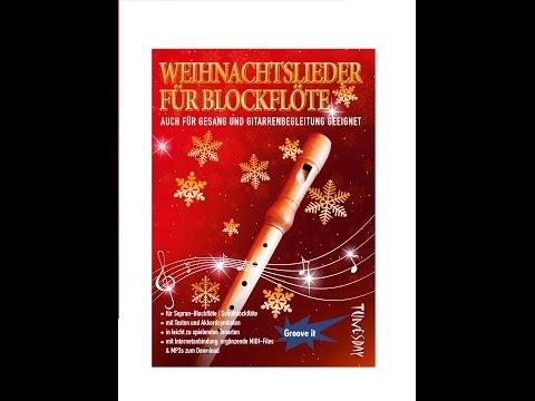 Weihnachtslieder für Blockflöte - Noten & MP3 MIDI Download