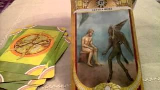 Таро Золотого тельца.  XV Верховный Аркан - Сатана Иова