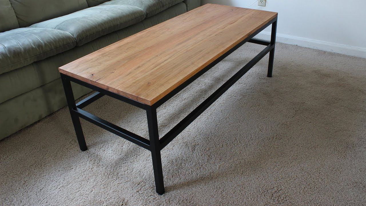 making an industrial coffee table from reclaimed metal