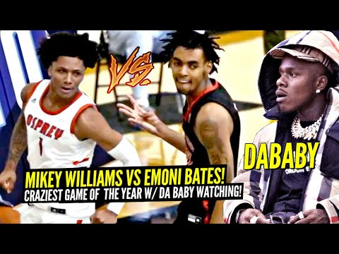 Download Mikey Williams vs Emoni Bates!!! The CRAZIEST GAME Of The Year w/ DABABY Watching!!