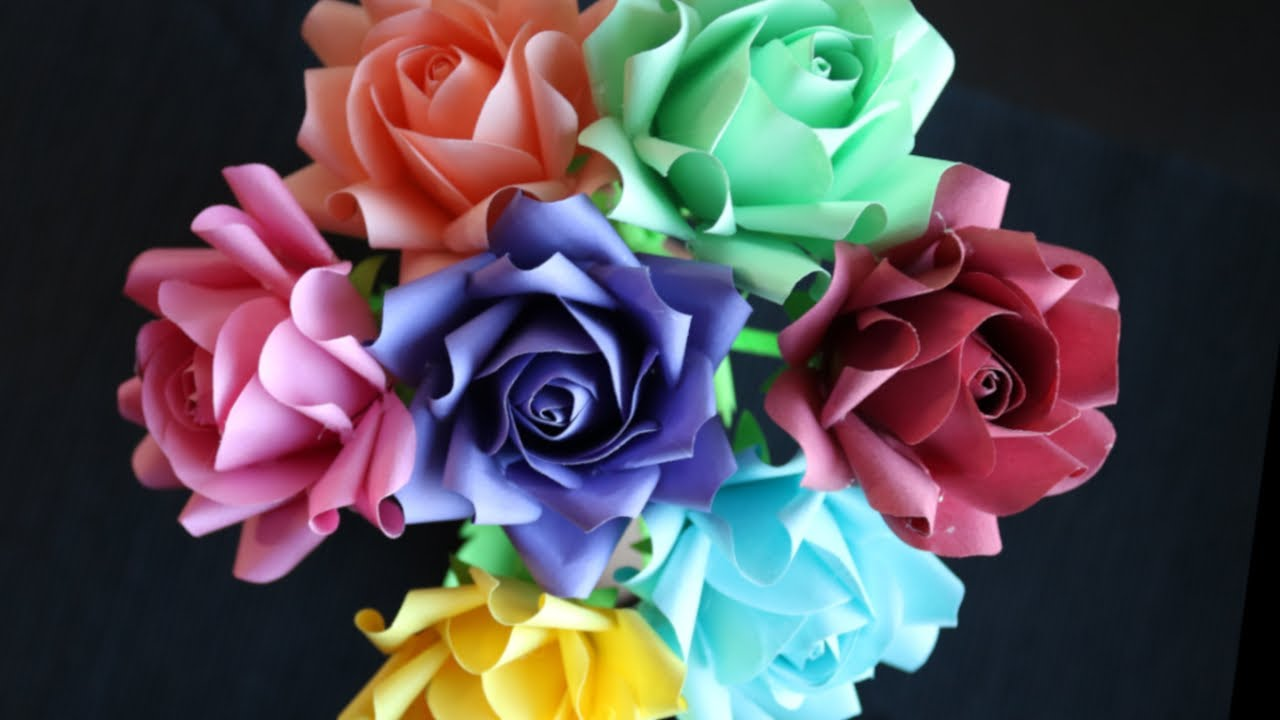 DIY How To Make Paper Roses - Paper Craft - Paper Flower