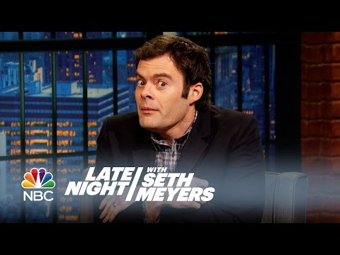 "Bill Hader Got ""Stoned"" in Amsterdam with the Cast of Trainwreck - Late Night with Seth Meyers"