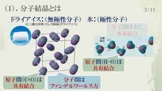13分子結晶と共有結合の結晶