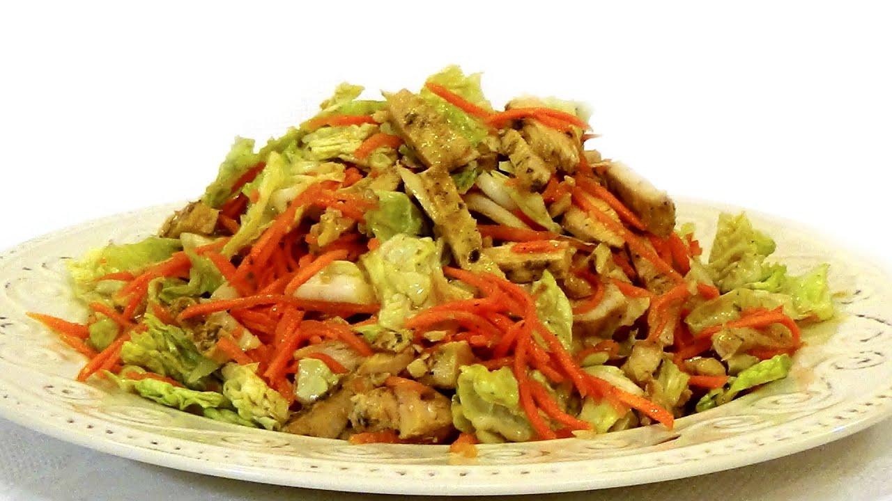 Диетический салат из курицы без майонеза
