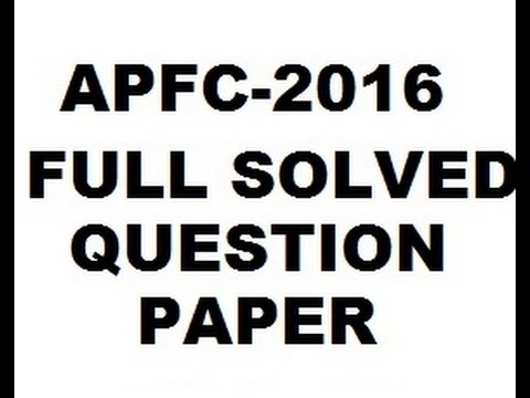 UPSC APFC 2016 FULL QUESTION PAPER DISCUSSION WITH ANSWERS #ASSISTANT PROVIDENT FUND COMMISSIONER