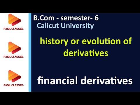DER- Lecture 3- history or evolution of derivatives-B.Com/M.Com- Calicut University