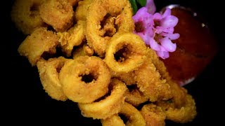 Deep Fried Crispy Squid (Asian Style Cooking Recipe)