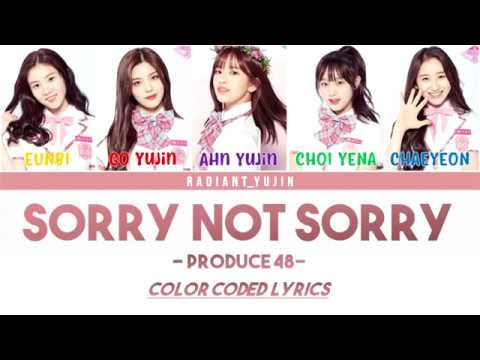 Sorry Not Sorry Cover - 프로듀스 48/PRODUCE 48 Lyrics (Color Coded)