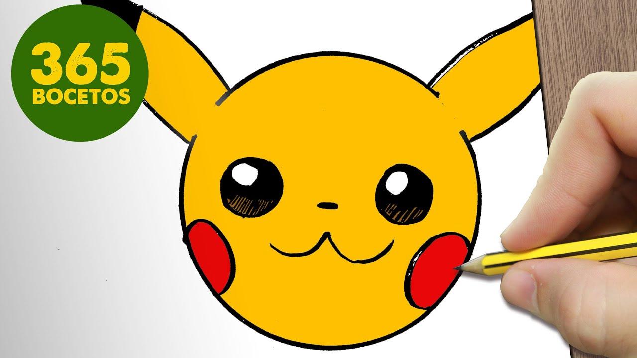 Como dibujar pikachu emoticonos whatsapp kawaii paso a paso dibujos kawaii f ciles youtube - Pikachu kawaii ...