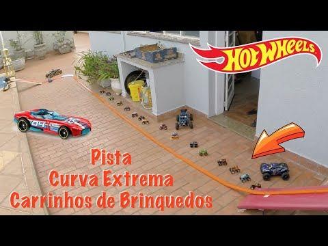 Hot Wheels Pista Curva Extrema com Booster - Carrinhos de Brinquedos #54