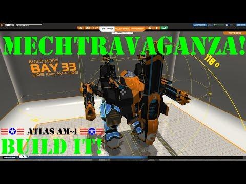 ROBOCRAFT - Mechtravaganza + ☰✪☰ Atlas AM-4 ☰✪☰ Build Guide