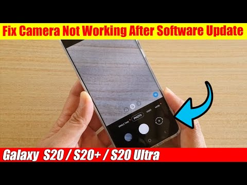 Galaxy S20/S20+: Fix Camera Not Working After Software Update