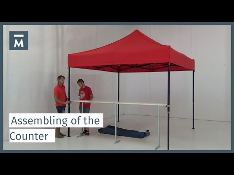 Assembling of the counter on your folding tent - YouTube