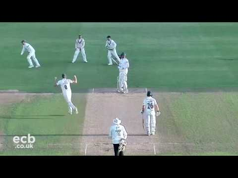 Tom Abell takes Hat-Trick against Nottinghamshire!