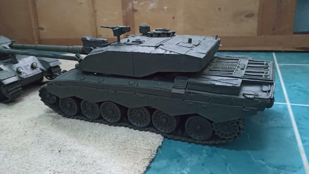 Танк Centurion из пластилина по полной его, того, это самое