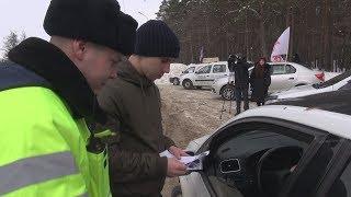 UTV. В Уфе сотрудники ГИБДД поздравили водителей с Днём всех влюблённых