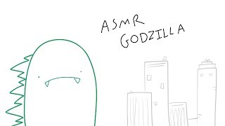 ASMR GODZILLA (ASMR cartoon parody)