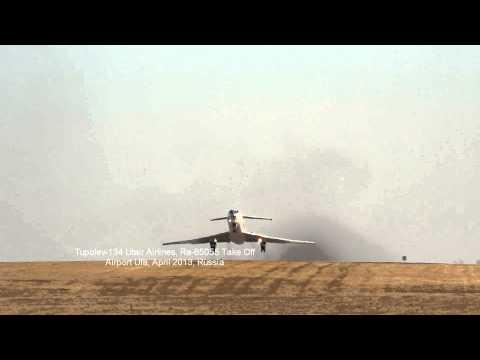 Tupolev-134 Utair Airlines, Ra-65055 Take Off Airport Ufa