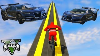 GTA V Online: BMX vs SUPER CARROS - O FINAL mais ESPETACULAR!!!