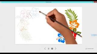 Уроки по рисованному видео. Создание открытки.