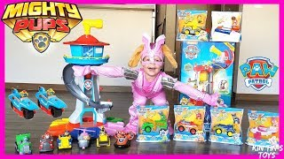 Paw Patrol Mighty Pups Adventure Mighty Lookout Tower and Mighty Vehicles | Paw Patrol Twins