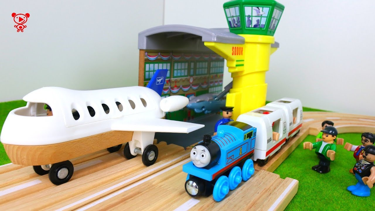 Wooden Trains For Kids Airplane And Thomas In The Wooden Brio City Wooden Railway For Kids