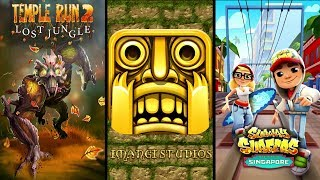 Temple Run 2 Jungle Fall Vs Temple Run Vs Subway Surfers Singapore - Endless Run Gameplay