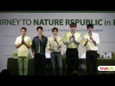 160308 แถลงข่าว 5หนุ่ม EXO ลัดฟ้าร่วมงาน Nature Republic Thailand