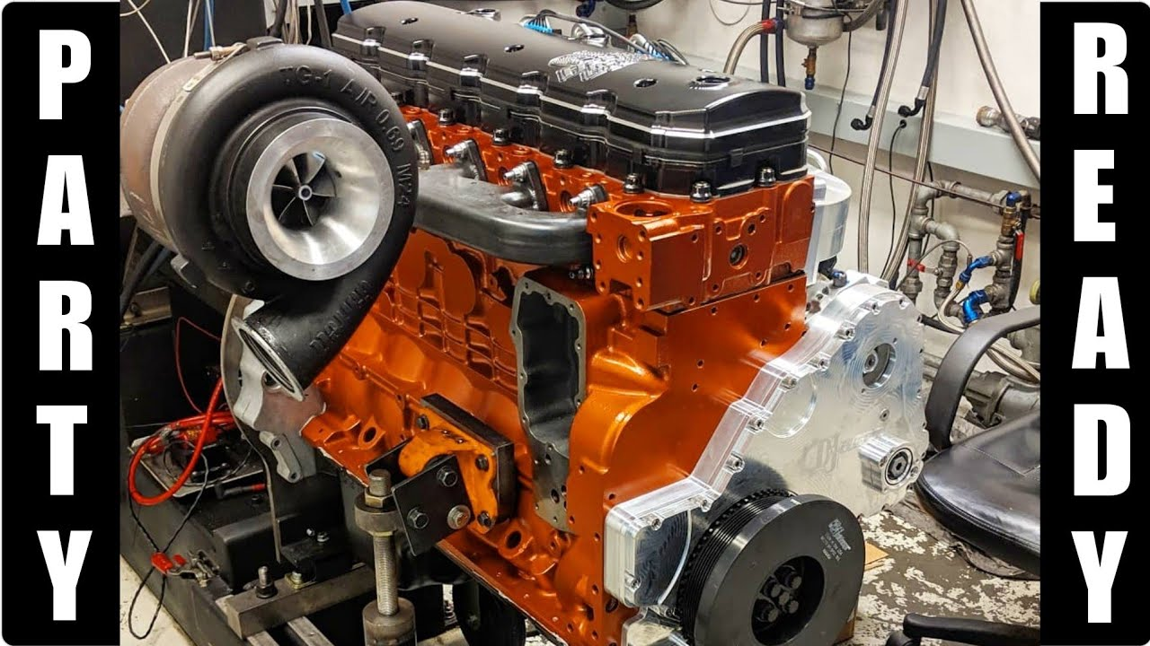 Our 2000HP Cummins Engine IS DONE!! Diesel Drag Truck Engine and Cage  UPDATE!!