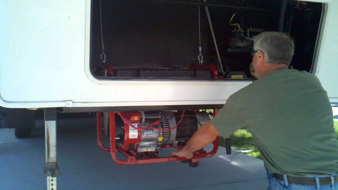 Custom 1 Man Rv Generator Loading Storing System Youtube