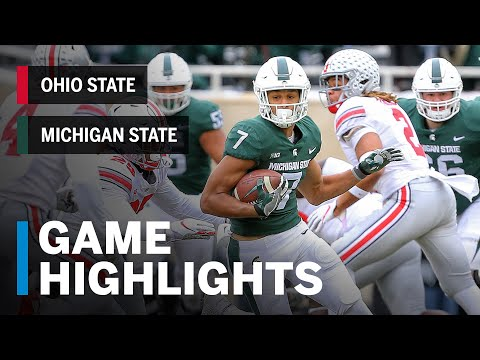 Highlights: Ohio State Buckeyes vs. Michigan State Spartans | Big Ten Football
