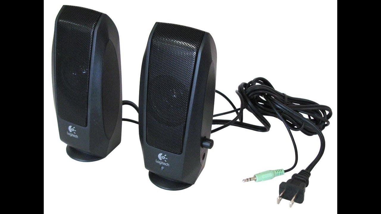8b1d9cd2a72 Logitech s120 stereo speaker review - YouTube