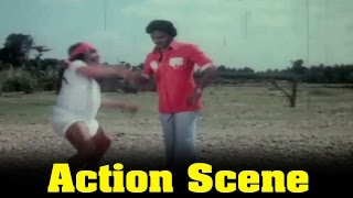 Thural Ninnu Pochu Movie : K. Bhagyaraj Fight By M. N. Nambiar Scene