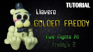tutorial llavero golden freddy en porcelana fria   fnaf   golden freddy charm polymer clay tutorial