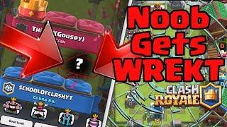 BEST NOOB aka School Of Clash GETS GLITCH WREKT | Clash Royale Funny LOL Deck FAIL Moments