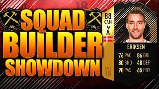 EPIC IF ERIKSEN SQUAD BUILDER SHOWDOWN!! FIFA 18 ULTIMATE TEAM