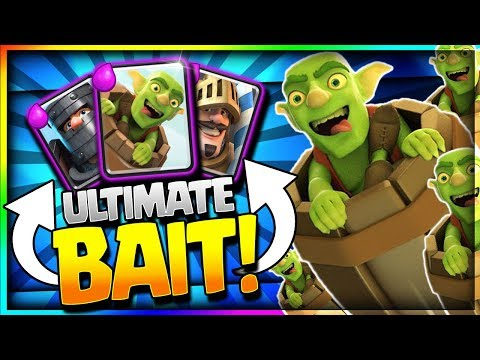 INSANE NEW BAIT DECK is OP!! Easy Goblin Barrel Ladder & Challenge Deck - Clash Royale