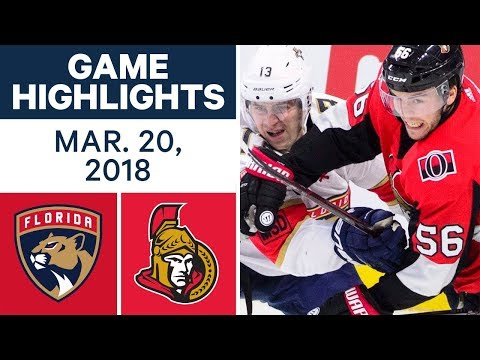 NHL Game Highlights | Panthers vs. Senators - Mar. 20, 2018