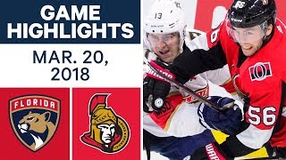 NHL Game Highlights | Panthers vs. Senators - Mar. 20, 2018 2017 Video