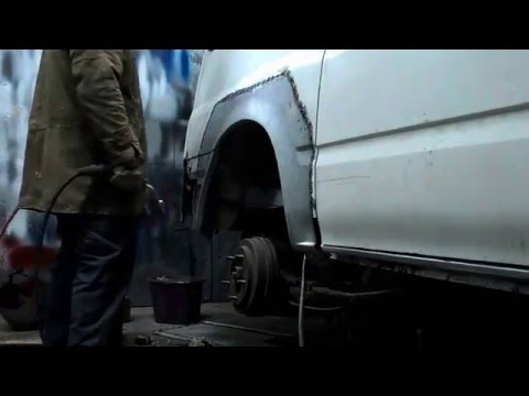 Remont blacharski busa Ford transit część 1