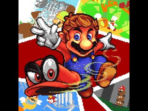 Pixel Art Super Mario Odyssey