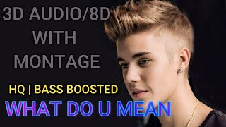 3D Audio For Justin Bieber-What Do You Mean? Please Wear Headphones