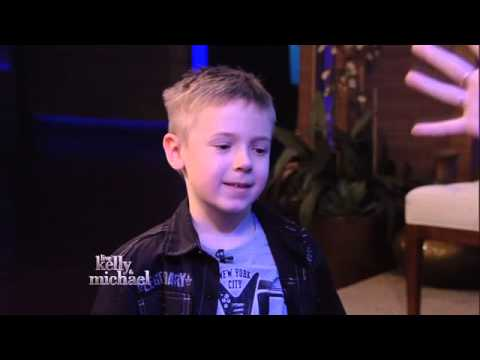 """Six-Year-Old Drummer Avery Molek -- """"LIVE with Kelly and Michael"""" Podcast -- Friday, 4/12/2013"""